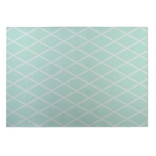 Kavka Designs Sea Foam Lattice Work Indoor/Outdoor Floor Mat - 5' x 7'