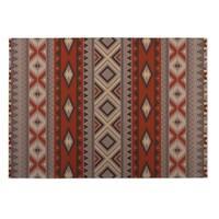 Kavka Designs Red/ Grey Santa Fe Indoor/Outdoor Floor Mat ( 5' X 7' ) - 5' x 7'