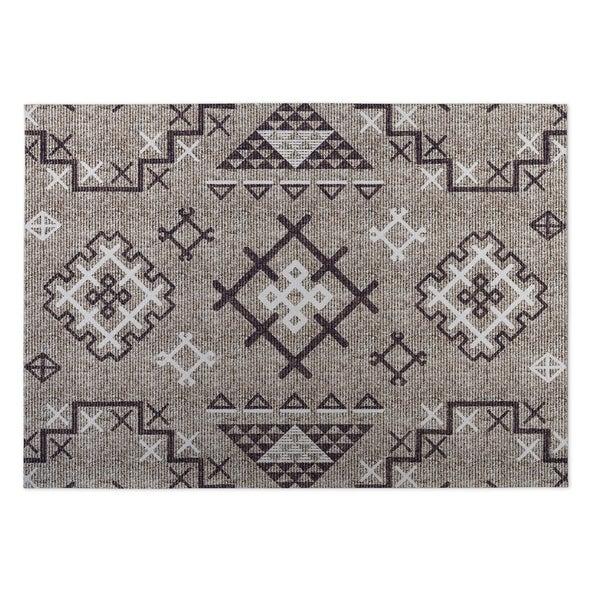 Kavka Designs Beige/ Purple Aztec Indoor/Outdoor Floor Mat ( 5' X 7' ) - 5' x 7'. Opens flyout.