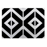 Kavka Designs Black/ White Montilla Indoor/Outdoor Floor Mat ( 5' X 7' ) - 5' x 7'