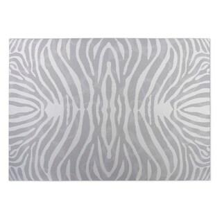 Kavka Designs Grey/ Ivory Safari Indoor/Outdoor Floor Mat - 5' x 7'