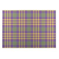 Kavka Designs Purple/ Yellow/ Green Floral Plaid Indoor/Outdoor Floor Mat - 5' x 7'