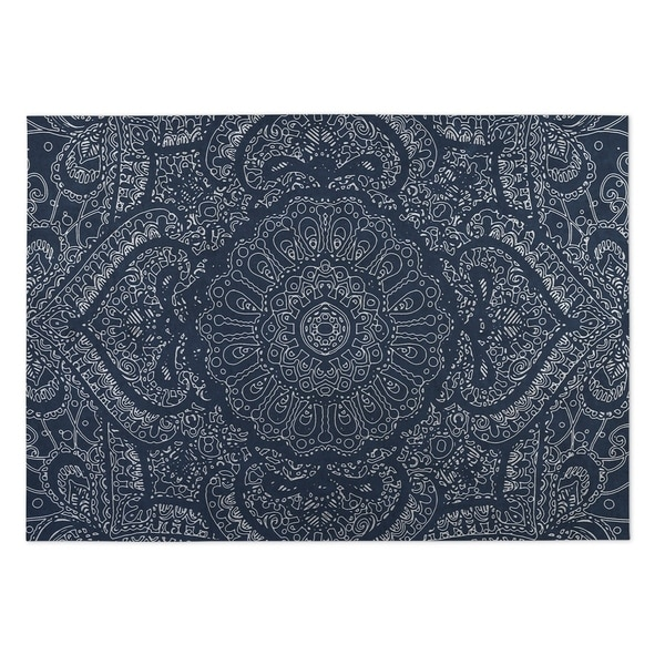 Do It Yourself Home Design: Shop Kavka Designs Blue/ White Mandala Indoor/Outdoor