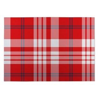 Kavka Designs Red/ White/ Blue Planting Indoor/Outdoor Floor Mat ( 5' X 7' ) - 5' x 7'