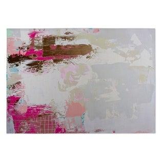 Kavka Designs Grey/ Pink/ Brown Valley Talk Indoor/Outdoor Floor Mat ( 5' X 7' ) - 5' x 7'