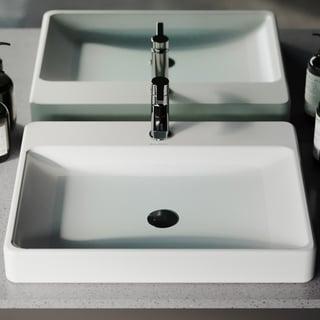 Swiss Madison® Plaisir® Rectangular Ceramic Bathroom Vessel Sink