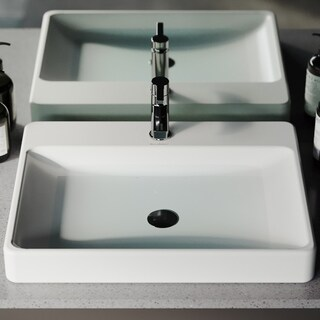 Swiss Madison Ivy® Rectangular Ceramic Bathroom Vessel Sink