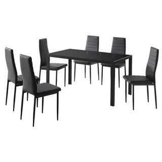 7 Pc Contemporary Dining Set (2 options available)