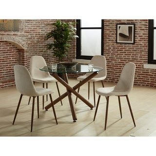 5 Pc Round Contemporary Dining Set