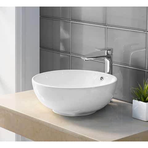 Swiss Madison Sublime® Round Ceramic Bathroom Vessel Sink Bowl