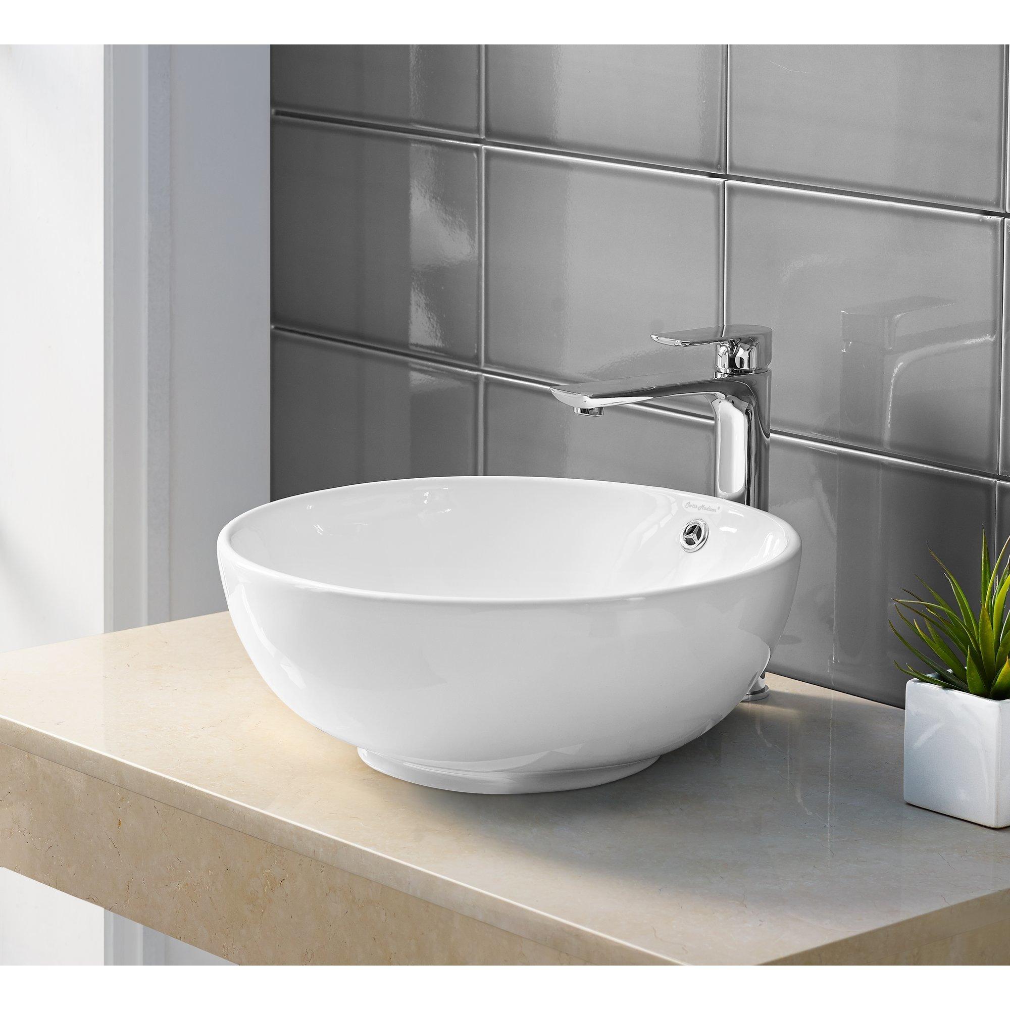 Round Ceramic Bathroom Vessel Sink