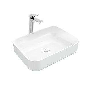 swiss madison plaisir slender rectangular ceramic bathroom vessel sink