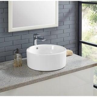 Swiss Madison® Plaisir® Round Ceramic Bathroom Vessel Sink