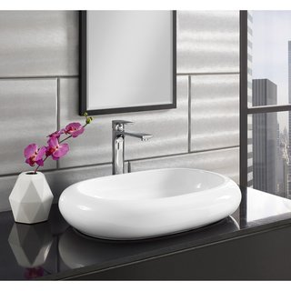 Swiss Madison® Plaisir® Wide Round Ceramic Bathroom Vessel Sink