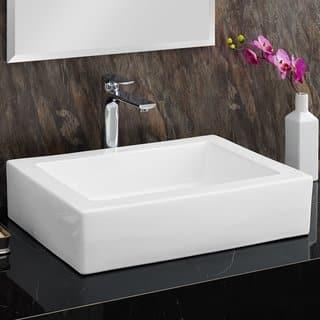 swiss madison voltaire rectangular ceramic bathroom vessel sink - Bathroom Vessel Sinks