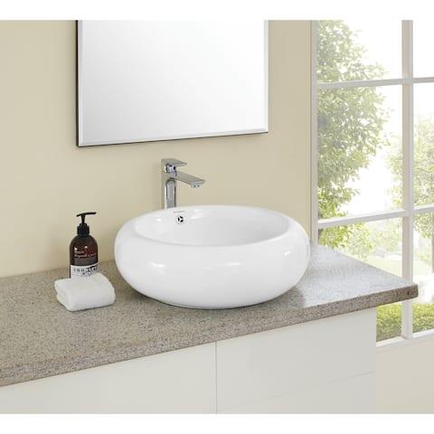 Swiss Madison Plaisir® Round Ceramic Bathroom Vessel Sink
