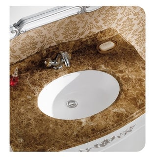 "Swiss Madison® Plaisir® 18"" Oval Under-Mount Bathroom Sink"