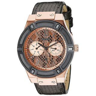 Guess Women's U0289L4 Multi-Function Grey Leather Watch