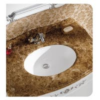 "Swiss Madison Plaisir® 16.5"" Oval Under-Mount Bathroom Sink"