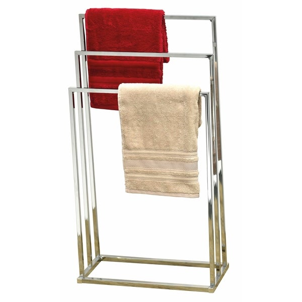 Shop Evideco Free Standing Bath Towel Rack 3 Bars Square Tube Chrome
