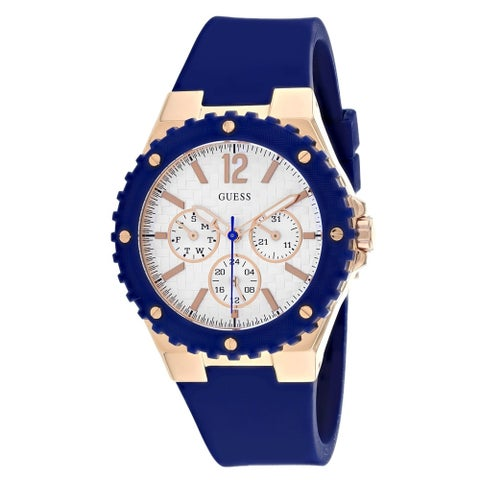Guess Women's Chronograph Blue Silicone Watch