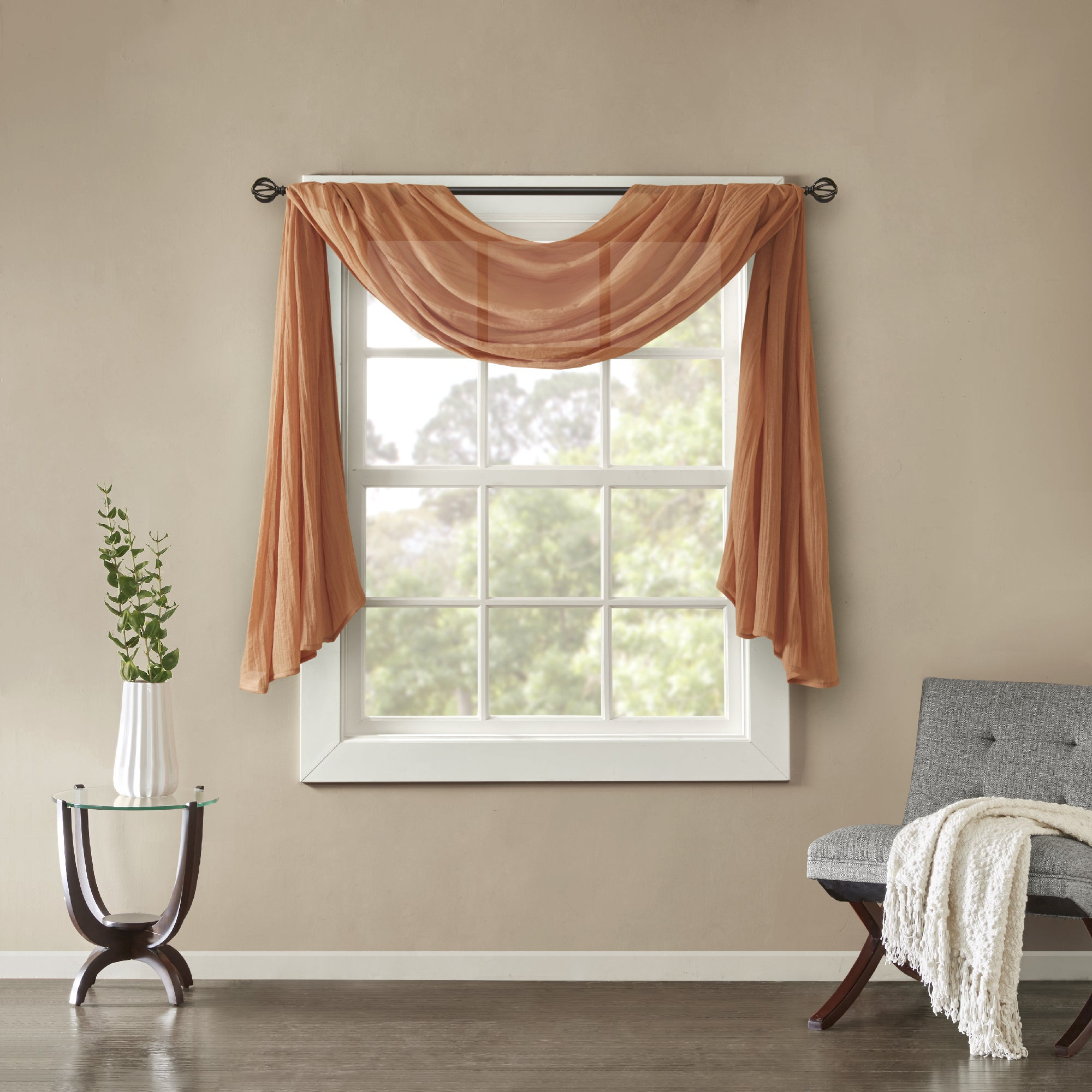 Buy orange valances online at overstock com our best window treatments deals