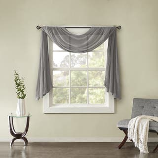 Madison Park Kaylee Solid Lightweight Crushed Sheer Curtain Scarf|https://ak1.ostkcdn.com/images/products/17024739/P23303771.jpg?impolicy=medium
