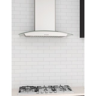 Ancona Tornado III 30 in. Wall-mounted Convertible Range Hood