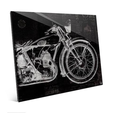 Vintage Motorcycle Wall Art Print on Acrylic