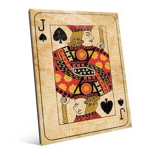Vintage Jack Playing Card Wall Art on Acrylic