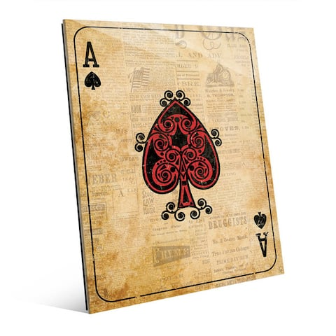 Vintage Ace Playing Card Wall Art Print on Acrylic