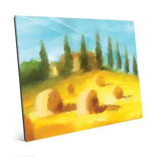 Hay Bale Hill Landscape Wall Art Print on Acrylic