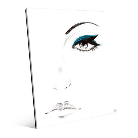 Cyan Eyeshadow Wall Art Print on Acrylic