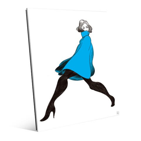 Woman Striking a Pose Wall Art Print on Acrylic
