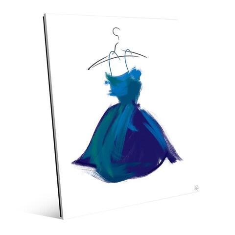 Little Azure Dress Wall Art Print on Acrylic