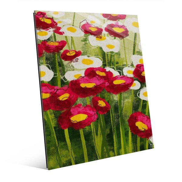 Spring Wildflowers Wall Art Print on Acrylic