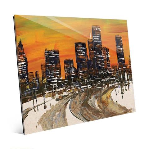 Interstate 30 Cityscape Wall Art Print on Acrylic