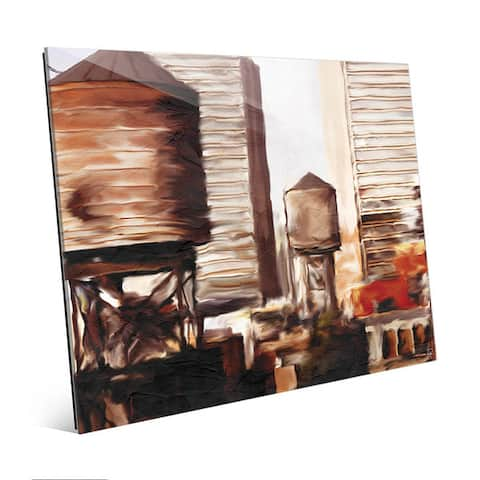 Rusty Rooftops Skyline Wall Art Print on Acrylic