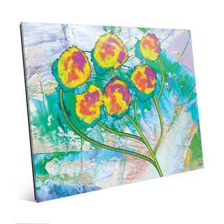 5 Pronged Cotton Boll Wall Art Print on Acrylic
