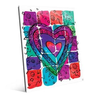 Wild Color Heart Wall Art Print on Acrylic