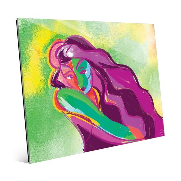 Verdigris Line Woman Wall Art Print on Acrylic
