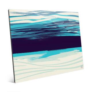 Cyan Abyss Abstract Wall Art Print on Acrylic