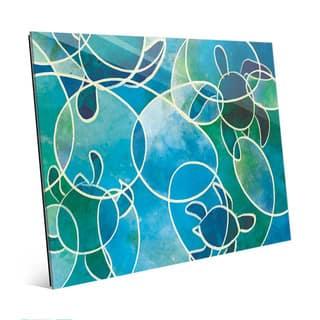 Sea Turtles Abstract Wall Art Print on Acrylic
