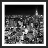 'New York Cityscape 3' Framed Painting Print - multi
