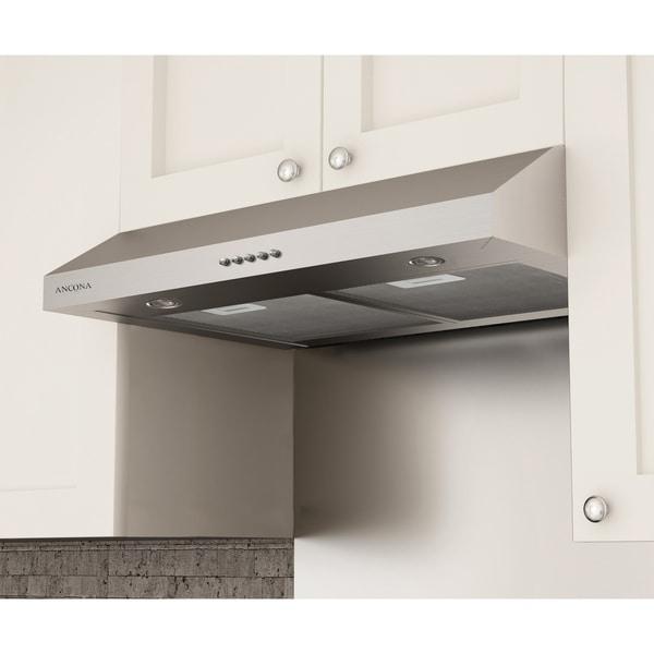 Ancona Slim Plus 30 in. Under-cabinet Range Hood in Stainless Steel