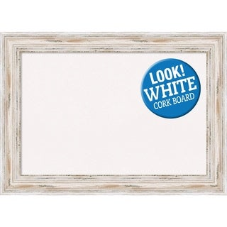 Framed White Cork Board, Alexandria White Wash