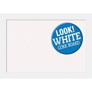 Framed White Cork Board, Corvino White