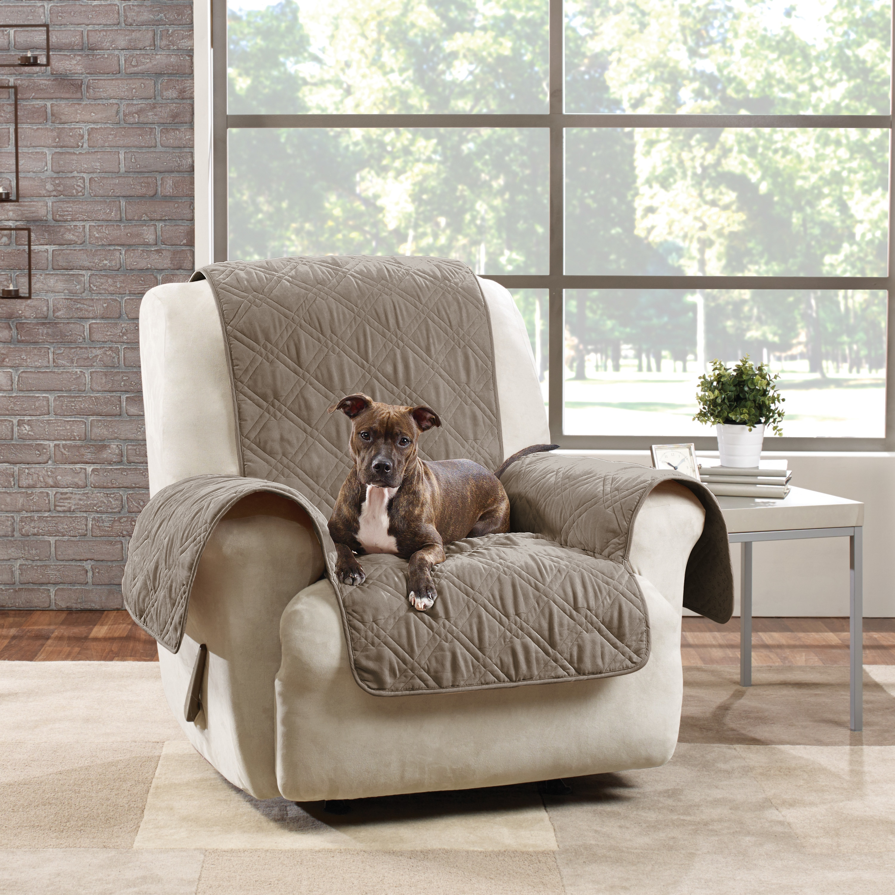Enjoyable Sure Fit Microfiber Quilted Pet Throw Recliner Cover Short Links Chair Design For Home Short Linksinfo