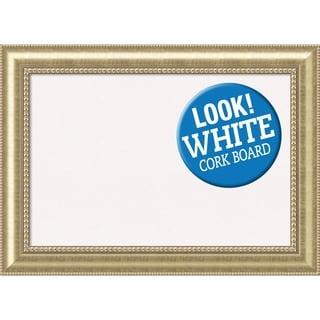 Framed White Cork Board, Astoria Champagne