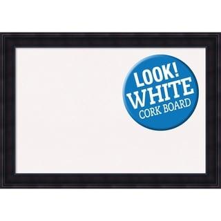 Framed White Cork Board, Annatto Mahogany